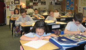 Strickland Christian School students in the classroom