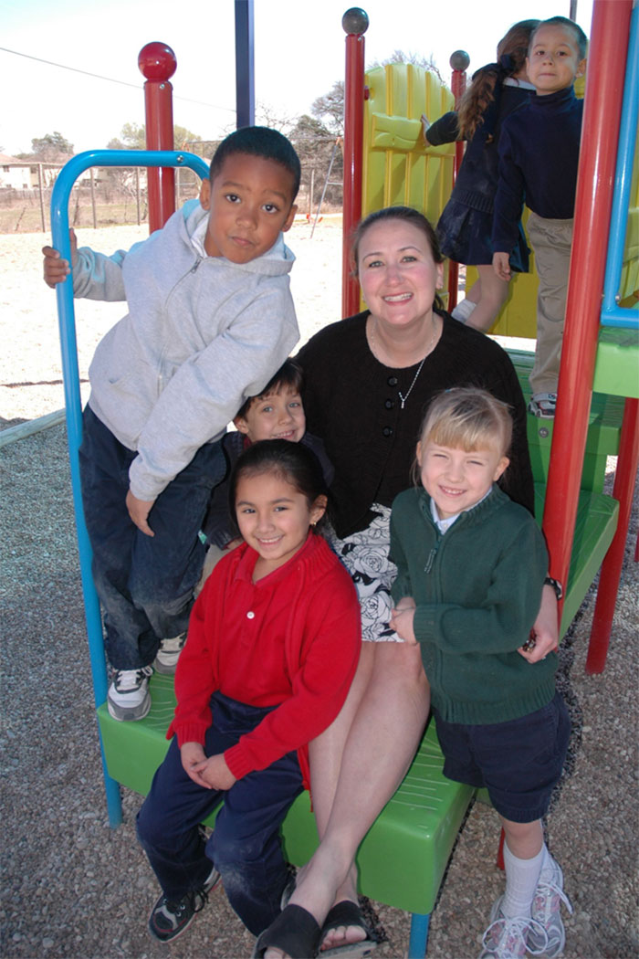 Strickland Christian School students on the playground